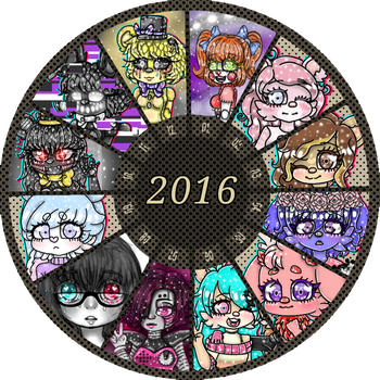 .: 2016 Summary Of Art :. by rania-the-candy