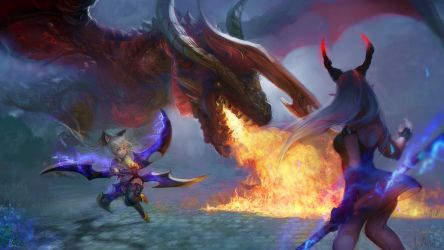 Dragons in Arborea by Naiichie