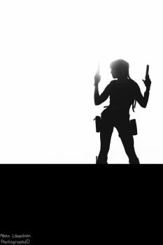 Lara silhouetted by hmcindie