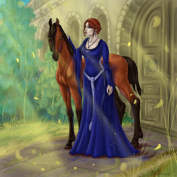 The lady with the foal by Esa82