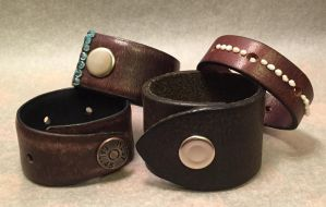 leather cuffs by inkvine