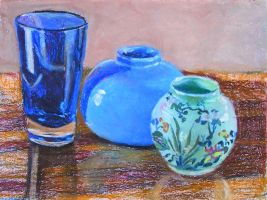 Still Life with Glass, Vases by TArthurSmith