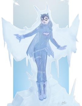 Frozen...Batgirl Pin Up Commission by Mro16