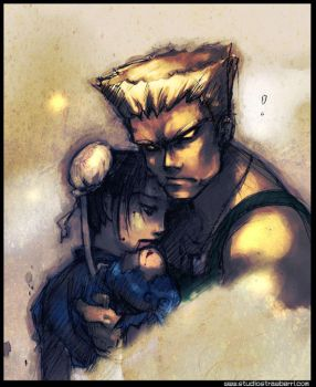 ChunLi and Guile by pu