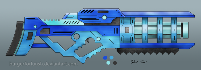 Scifi Particle Beam Cannon by BurgerForLunsh