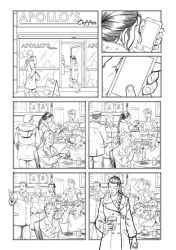 My first page of the Carlos Pacheco course... by Almayer