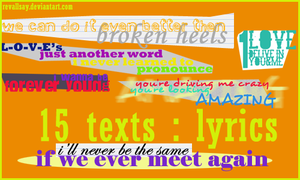 15 texts - lyrics PNGs by revallsay
