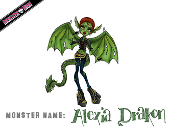 Monster High Contest: Alexia Drakon by MetallicDynamite