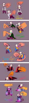 Smol Gaster's by Bunnymuse