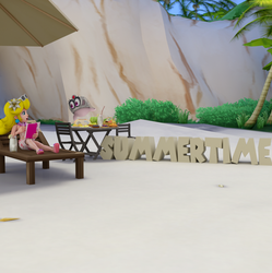 Peach at the Beach: Summertime! by Spinosaurusking875