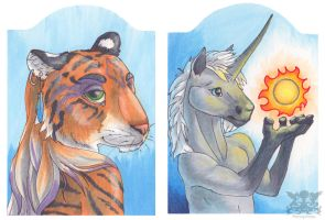 Copic cards by Penny-Dragon