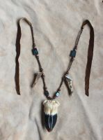 Deer Hoof Talisman Necklace by lupagreenwolf