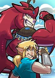 Link and Sidon by SupaCrikeyDave