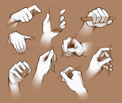 Life study: hands 2 by Spectrum-VII