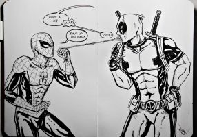 Spidey-Pool by punkeduppirate