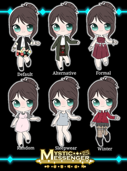 [Mystic Messenger oc] Min-ji's outfit collection  by you-may-call-me-meme