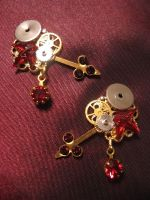 'Bloody Aether' earrings by Space-Invader