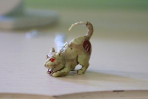 Zombie Kitty Necklace by MonsterBrandCrafts