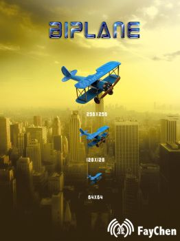 icon of biplane by Faychen521