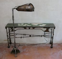 Hand made lamp and table by neilcollinsartist