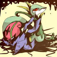 Accelgor and Serperior