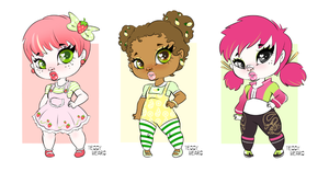 Fruit Inspired Chubbie Adoptables - OPEN by teddy-beard