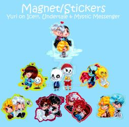 Magnetsandstickers by Nekkohime