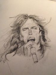 Steven Tyler Sketch by PaintedLiLy
