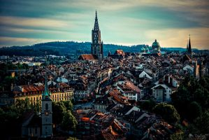 Old Town Of Bern by LeWelsch