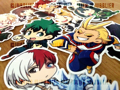 My Hero Academia Stickers by Jubblier