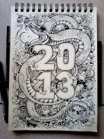 DOODLE ART: Year Of the Water Snake by kerbyrosanes