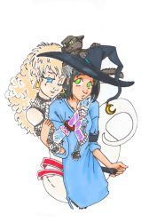 Blue Witch- hanging out by GlyphBellchime