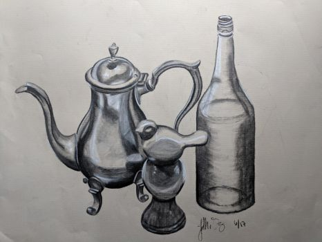 charcoal still life by StarsTempestuous