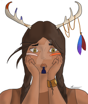 Antler Girl- WIP by MangaIzMaiLife