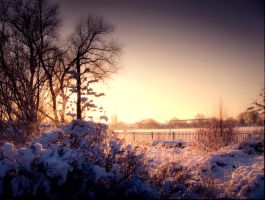 STOCK: Sunset snow scence 4 by needanewname