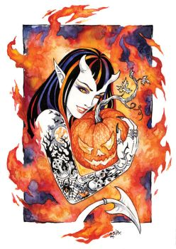 Fire of Halloween by Candra