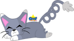 Lazy Glameow by Tiny-Toons-Fan