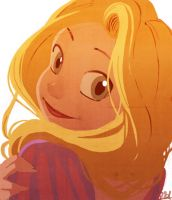 Rapunzel sketch -colored- by VPdessin