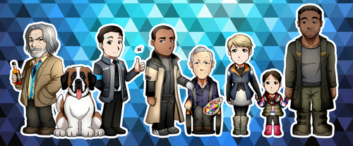 Detroit: Become Human Stickers by Smudgeandfrank