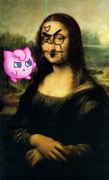 Jigglypuff And The Mona Lisa by 4everdrawing