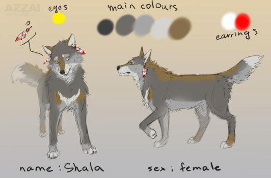 wolf design ex. by azzai