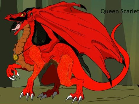 Queen Scarlet of the Skywings by trainman666