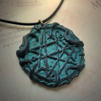 Tentacled Necronomicon Gate Necklace by CthulhuJewellery