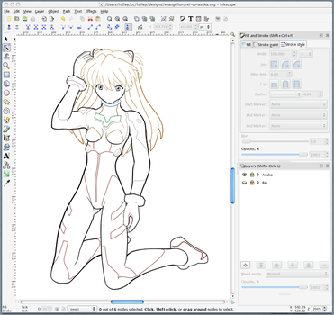 Asuka - Outline by halley