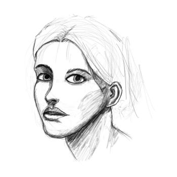 Face proportions study 4 sketch by ShieldCrush