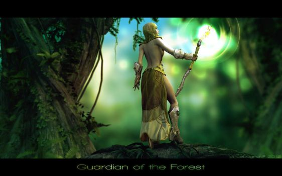 Guardian Of The Forest by vincebagna