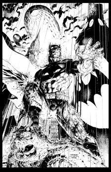Jim Lee Batman inks finished by LiamSharp