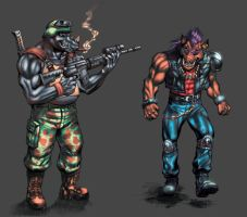 Beebop and Rocksteady by MatiasSoto