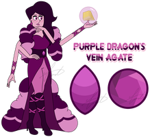 SUOC Fusion - Purple Dragon's Vein Agate by GustavoTheHuman
