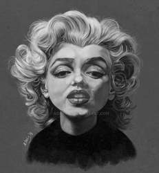 Marilyn hair study by adavis57